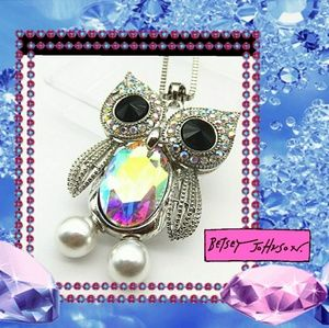 Betsey Johnson Owl Necklace